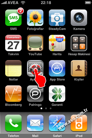 iphone email kurulumu, www.aso.com.tr