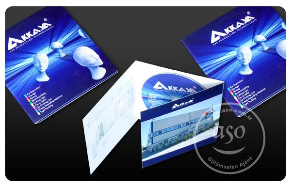 Akkaya Makina interaktif cd çalışması, kartoneti ve çoğaltımı