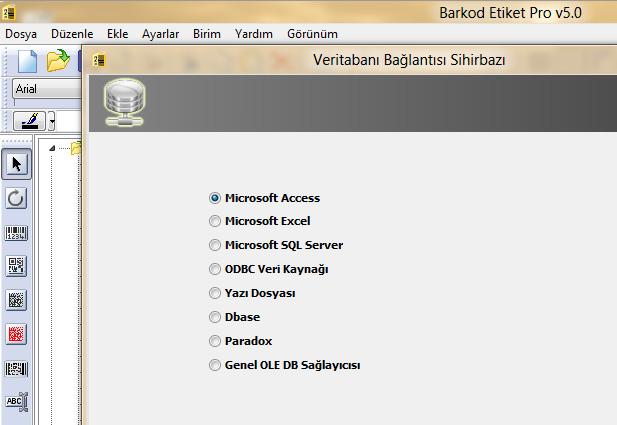 Barkod etiket pro programı ile veri alma