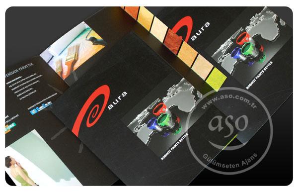 broşür tasarımı, aynı zamanda içine föy koyabileceğiniz dosya