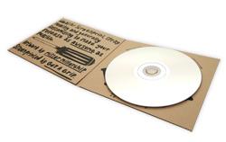 Kraft karton kağıttan üretilmiş CD-DVD zarfı, CD kutusu