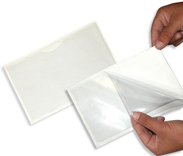 plastik dosya cebi, arkası yapışkanlı, klasör cebi