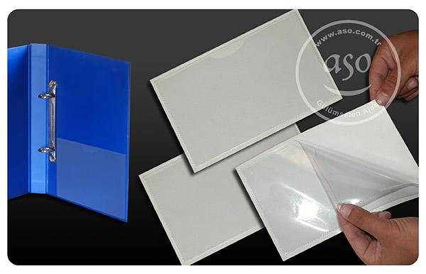 dosya cebi, arkası yapışkanlı dosya cep, plastik dosya cebi