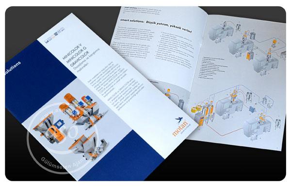 Motan Broşür, 2 sayfa A4 katlamalı, Tasarım: ASO REKLAM