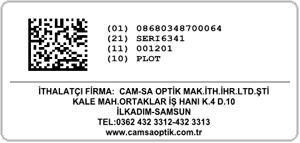 optik sektörü karekod barkod örnek etiket programı datamatrix barkot
