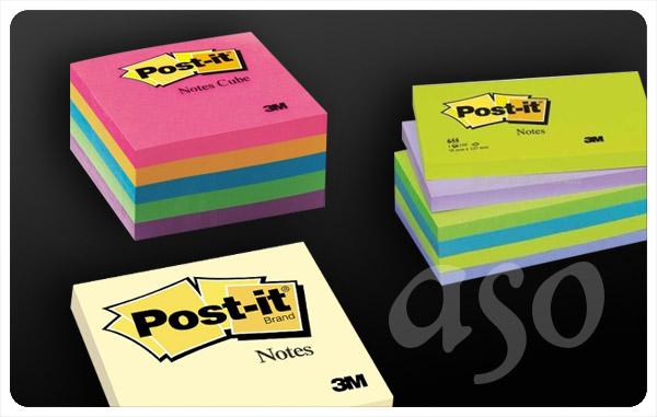 Post-it® notluk, posit promosyon yapışkanlı kağıtlar