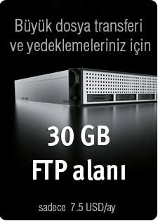 FTP alanı fiyat