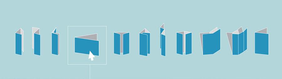 Broşür tasarımı katlama çeşitleri